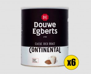 6 x Douwe Egberts Continental Rich Roast - 750g Tin