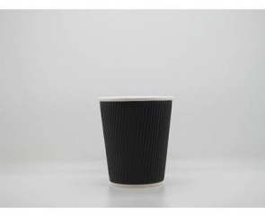 Ripple Wall Blck Paper Cups